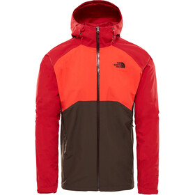 The North Face Stratos Jacket Men Bittersweet Brown/Fiery Red/Rage Red